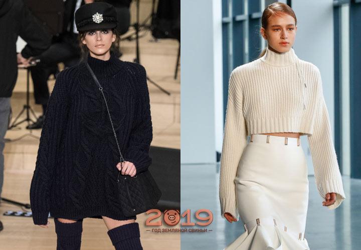Трендовые свитера зимы 2018-2019