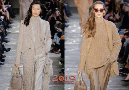 Вязаное пальто 2019 года