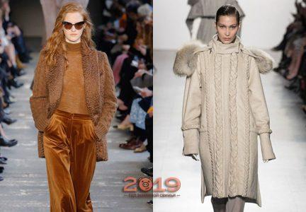 Модное вязаное пальто осень-зима 2018-2019