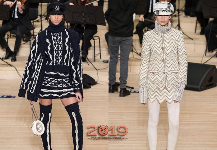 Вязаный костюм Шанель сезона осень-зима 2018-2019