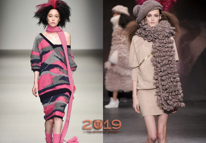 Модные шарфы зима 2018-2019