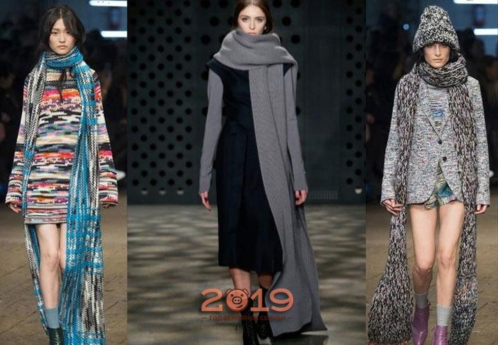 Необычные шарфы для 2019 года