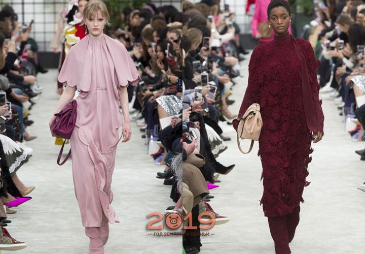 Длинные платья от Valentino  зима 2018-2019