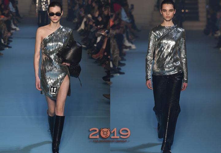 Блеск серебра в модны луках зимы 2018-2019