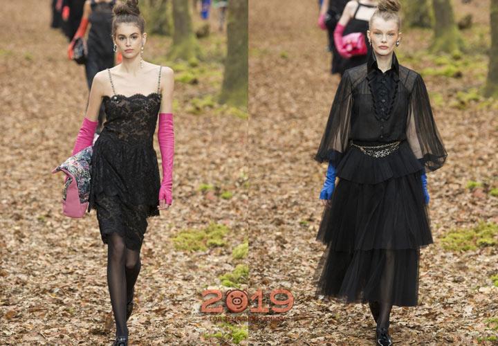Модные платья от Шанель зима 2018-2019
