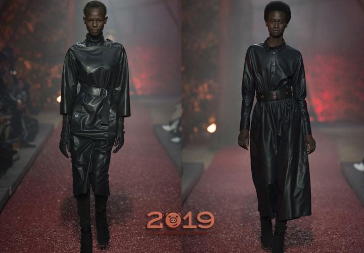 Кожаные образы Hermes  зима 2018-2019