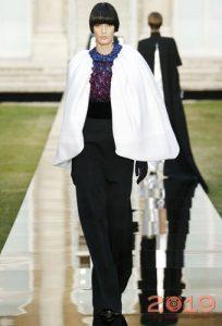 Меховая накидка Givenchy зима 2018-2019