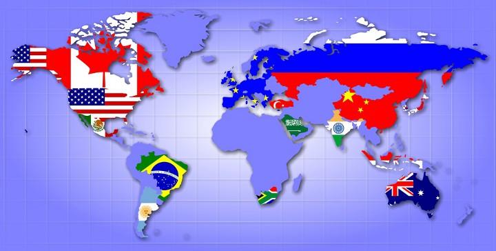 страны g20 на карте мира