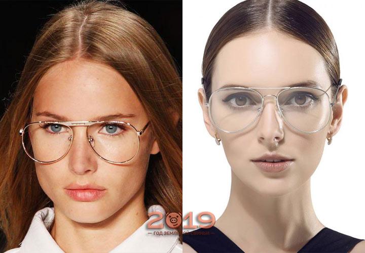 Модные очки-авиаторы 2019 года