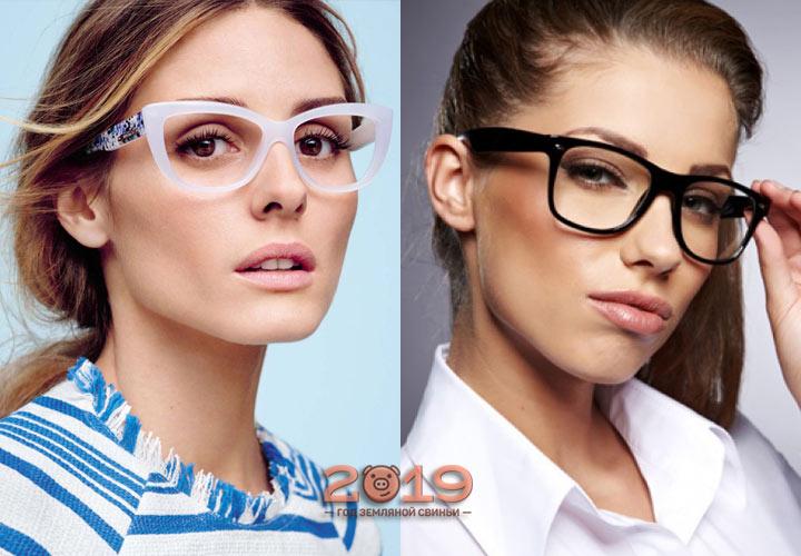 Очки с массивной оправой мода 2019 года