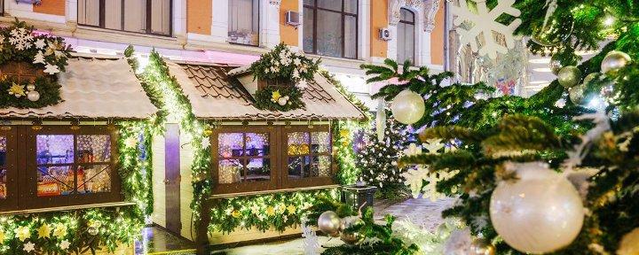 украшенное кафе Москвы