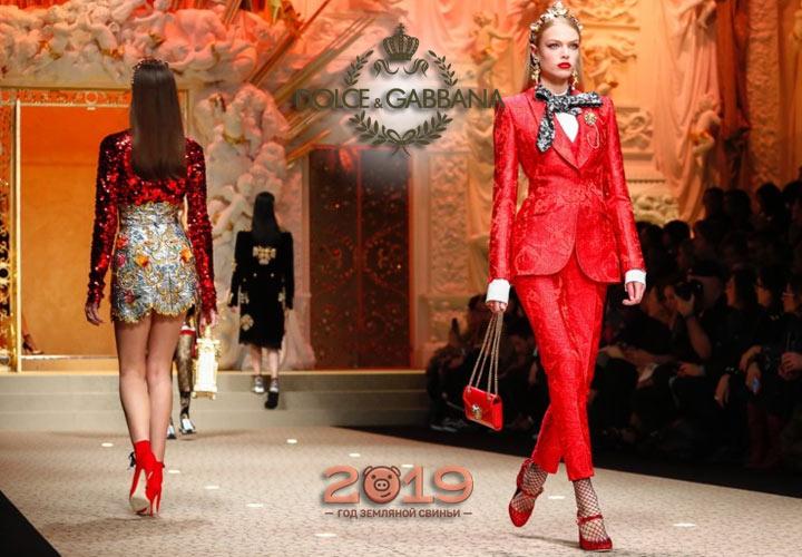 Koleksiyon Dolce & Gabbana sonbahar-kış 2018-2019 yıl