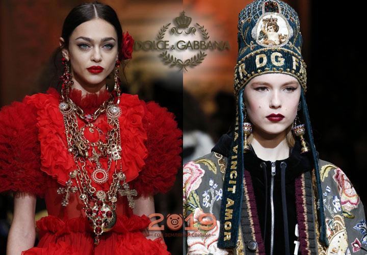 Украшения Dolce & Gabbana осень-зима 2018-2019