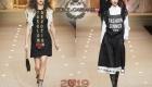 Черные сарафаны Dolce & Gabbana зима 2018-2019