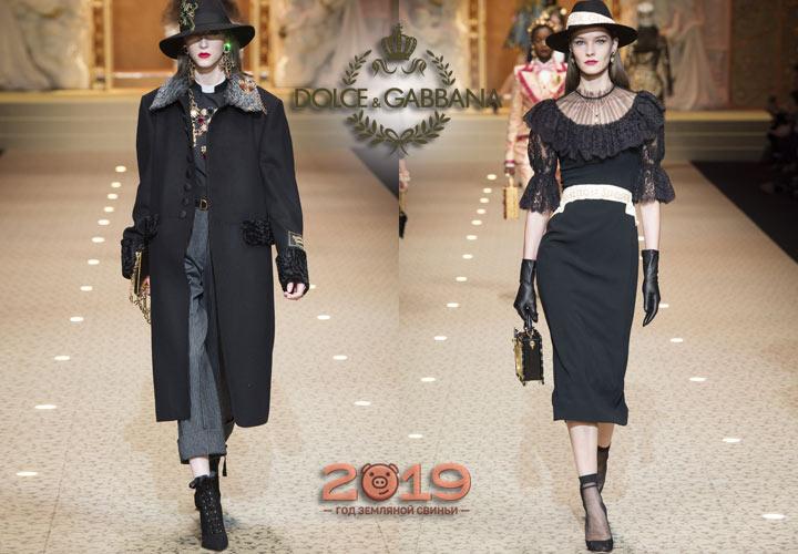 Классические образы Dolce & Gabbana зима 2018-2019