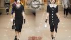 Siyah elbise Dolce ve Gabbana kış 2018-2019
