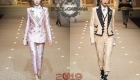 Dolce & Gabbana Güz-Kış 2018-2019'dan üç parçalı takım elbise
