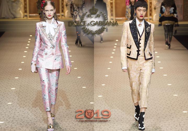 Костюмы тройки от Dolce & Gabbana осень-зима 2018-2019