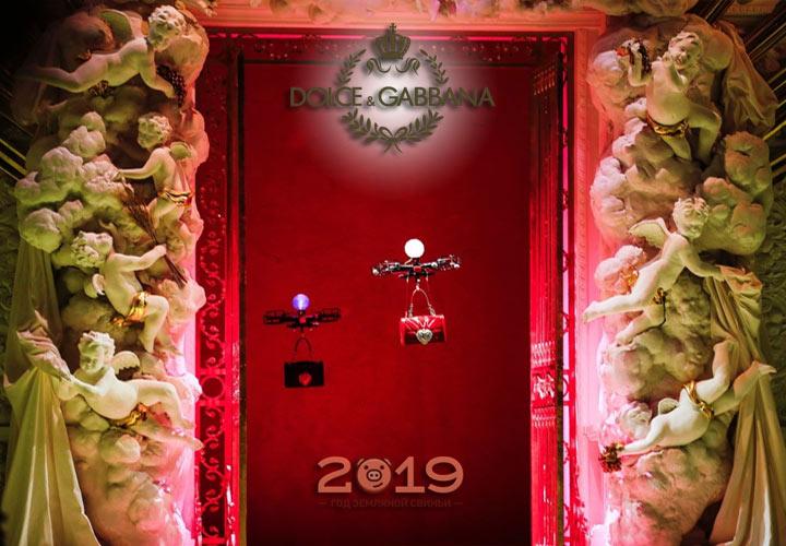 Дроны на показе Dolce & Gabbana осень-зима 2018-2019 года