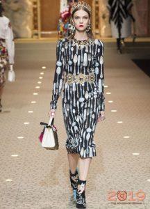 Платья с ложками Dolce & Gabbana зима 2018-2019