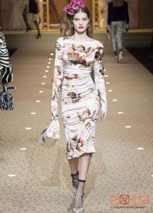 Платья с агнелами Dolce & Gabbana зима 2018-2019