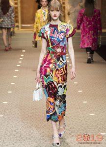 Модные принты коллекции Dolce & Gabbana зима 2018-2019