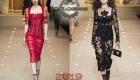 Прозрачные платья коллекции Dolce & Gabbana зима 2018-2019