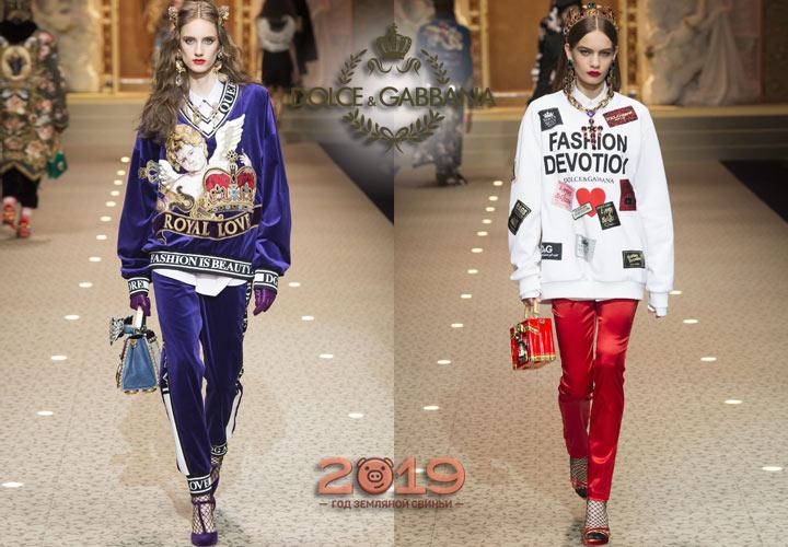 Спортивный стиль Dolce & Gabbana зима 2018-2019