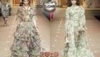 Işık şifon elbise Dolce & Gabbana sonbahar-kış 2018-2019