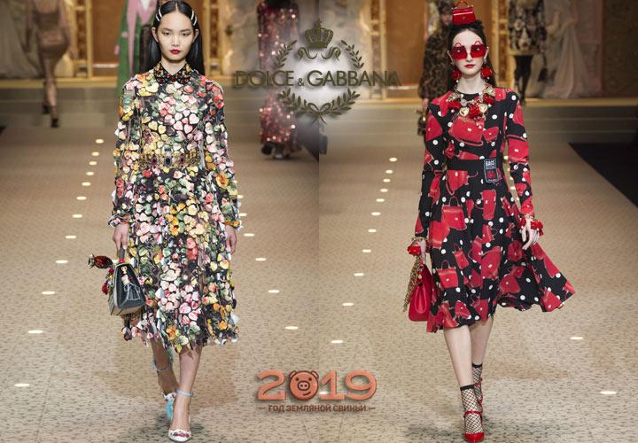 Модные платья Дольче и Габбана осень-зима 2018-2019