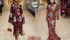 Parlak Dolce & Gabbana Elbiseler Kış 2018-2019