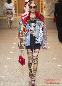 Moda denim gösterisi Dolce ve Gabbana kış 2018-2019