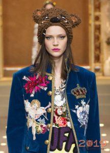 Yaratıcı şapka Dolce ve Gabbana kış 2018-2019