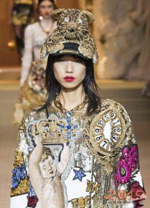 Hayvan cap Dolce ve Gabbana kış 2018-2019