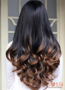 Fashionable Ombre for dark hair 2019