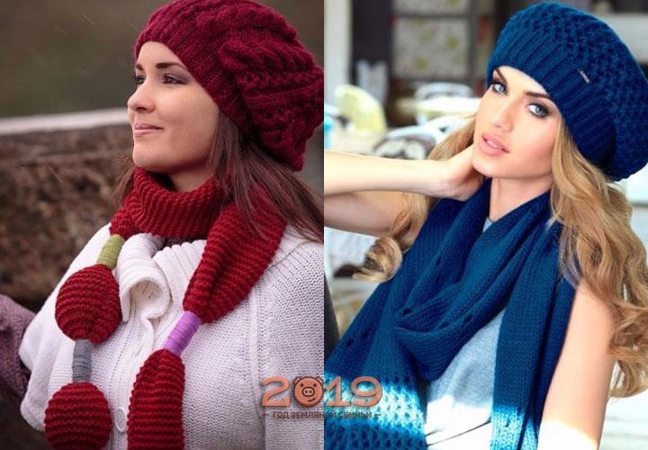 Берет + шарф - стильные образы 2019 года