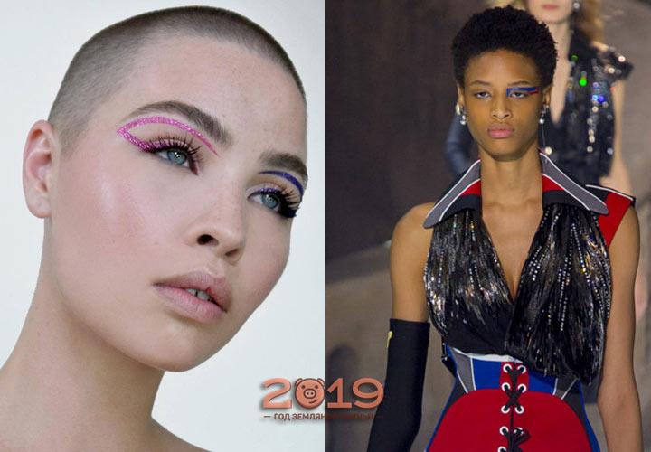 Необычный асимметричный макияж 2019 года