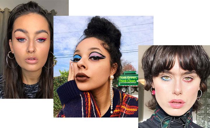Варианты асимметричного макияжа