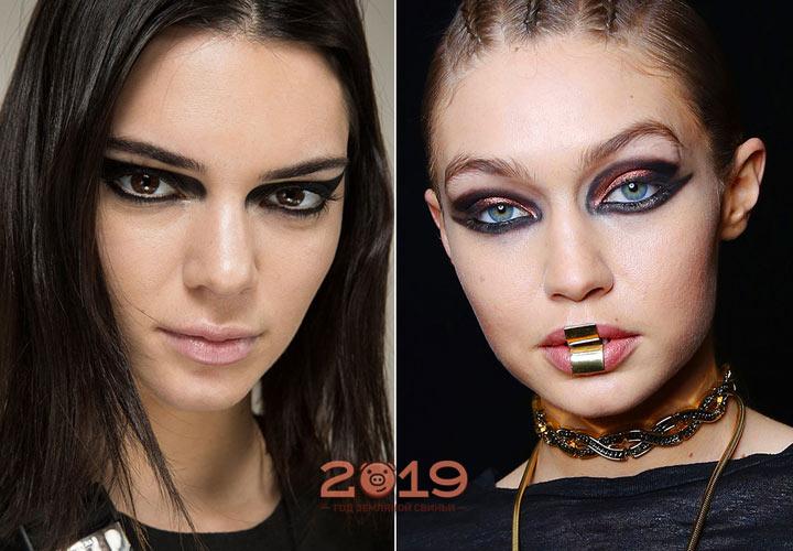 Модный макияж со стрелками на 2019 год