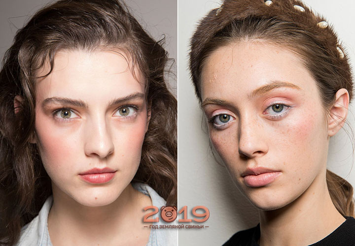 Нежный нюдовый макияж