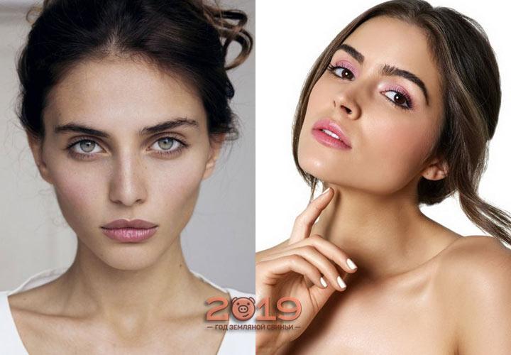 Нюдовый макияж зима 2018-2019