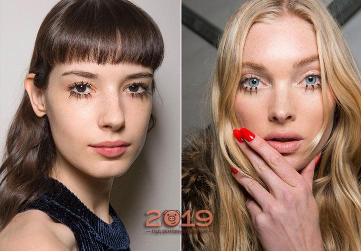 Большие ресницы тренд макияжа