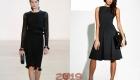 Строгое черное платье для встречи Нового Года