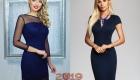 Классическое синее платье для корпоратива