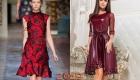 Новогоднее платье в красных тонах на 2019 год