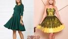 Модное новогоднее платье средней длины на 2019 год