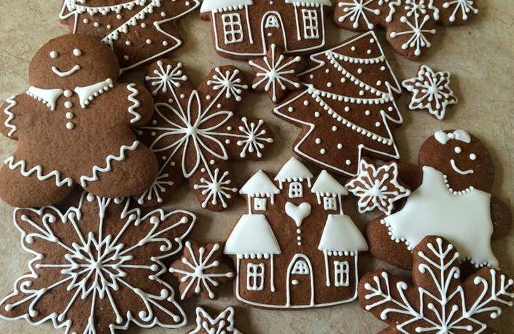 Шоколадные пряники на новый год