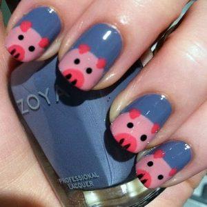 Маникюр к году свиньи