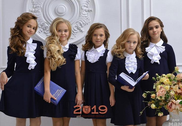 Красивая школьная форма для девочек на 2019 год