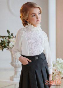 Модные блузки для школы